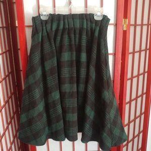 Dresses & Skirts - RARE Japanese Green Plaid Winter Skirt